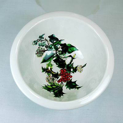 PORTMEIRION The Holly & The Ivy FOOTED SORBET/SMALL SERVING DISH  • 28$