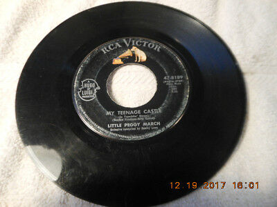 $ CDN7.52 • Buy LITTLE PEGGY MARCH (RCA VICTOR 47-8189) 7  45 Rpm MY TEENAGE CASTLE/I WISH I WER