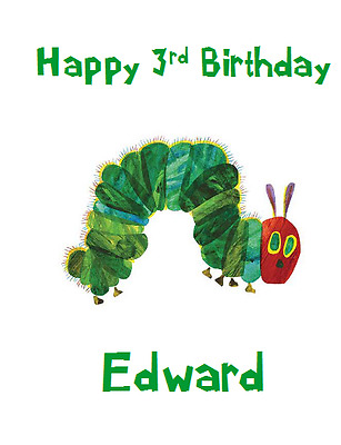 Personalised Greetings Birthday Card 1st 2nd 3rd 4th The Very Hungry Caterpillar • 1.99£
