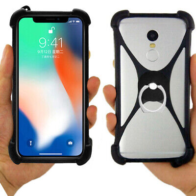 AU8.90 • Buy For Alcatel/Sony - Ring Holder Silicone Stand Case Skin Protective Cover Bumper