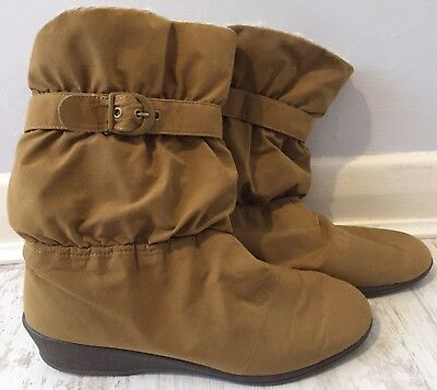 £24.99 • Buy Rohde Sympatex Tan Wool Lined Low Wedge Boots Size Uk 7