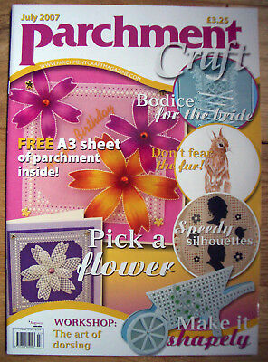 Parchment Craft Magazine - July 2007 Issue Brides Bodice Wheelbarrow Card • 4.95£