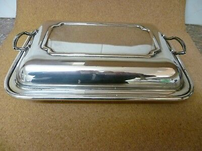 Antique, Rectangular, Silver Plated Entree Dish. Vegetable Tureen.'legacy Plate' • 39£