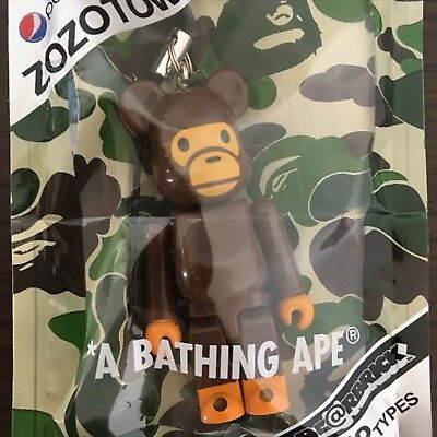 $37 • Buy MEDICOM Be@rbrick A BATHING APE Key Chain Bearbrick Strap Japan BAPE