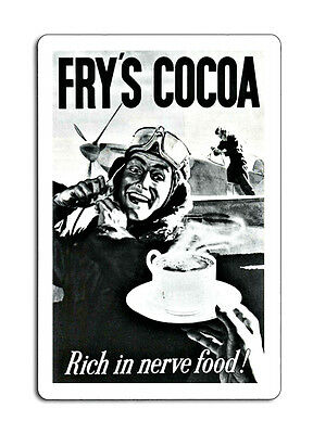 £8.99 • Buy Frys Cocoa Rich In Nerve Food Retro Plaque Metal Sign 8x12 Inche