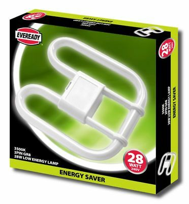 28w EVEREADY 2D Energy Saving 2 & 4 PIN DD Butterfly Lamp - Standard White 3500k • 4.97£