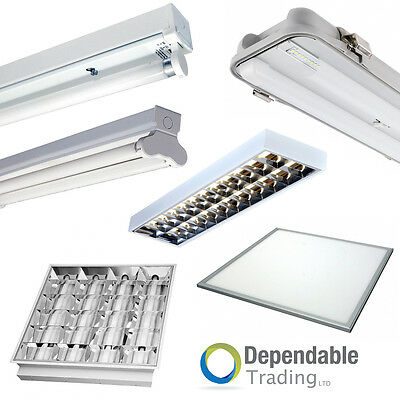 Office Lighting Led Or Fluorescent Surface / Recessed Panel Lights T8 With Tubes • 11.69£