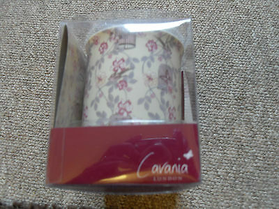 Cavania London - Fine Bone China Mug And Coaster Set - Floral Design • 4£