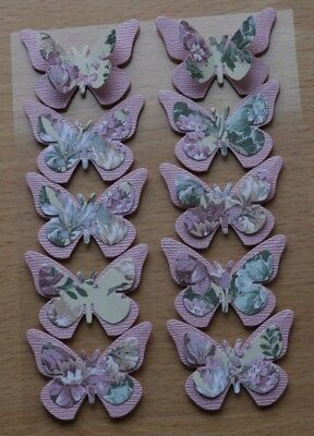 £2.65 • Buy 10 Beautiful Pink Chic 3d Layered Butterfly Card Toppers, Wall Art, Mothers Day