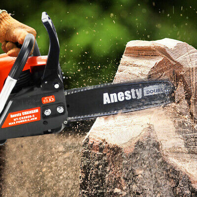 """View Details Petrol Chainsaw 58cc 20"""" Bar E-Start Chain Saw Tree Pruning 2*Chains +Bag+Cover • 68.90£"""