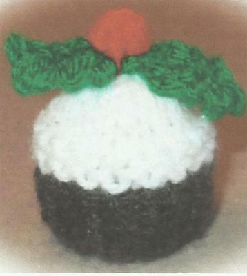 Knitting Pattern For A Christmas Pudding Ferrero Chocolate Cover • 1.50£