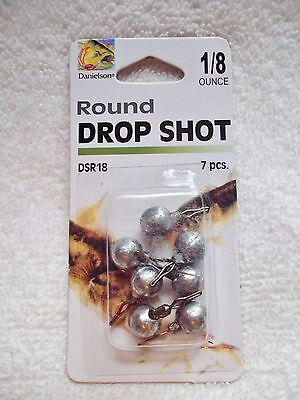 AU5 • Buy Danielson Round Drop Shot DSR18 Sinkers 1/8 Oz Weight 7 Ct Package