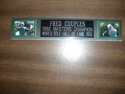 £5.73 • Buy Fred Couples (golf) Nameplate For Autographed Ball Display/flag/photo