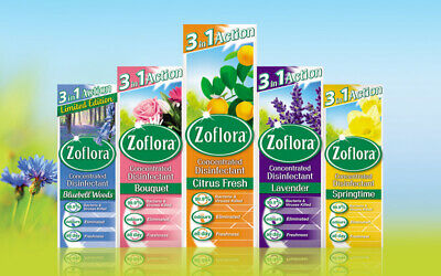 Zoflora Concentrated Antibacterial Disinfectant, Various Scents/Fragrances 120ml • 3.99£
