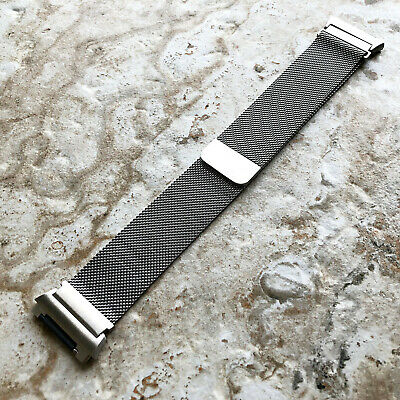 $ CDN38.74 • Buy Modern Silver Color Adjustable Milanese Loop Mesh Band Strap For Fitbit Ionic