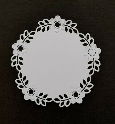 Die Cut Round  Doily Frame Card Toppers Card Making Scrapbooking Crafts • 2.70£