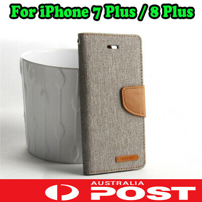 AU6.95 • Buy For IPhone 7 / 8 / 8 Plus Mercury Leather Flip Case Cover Magnetic Card Wallet