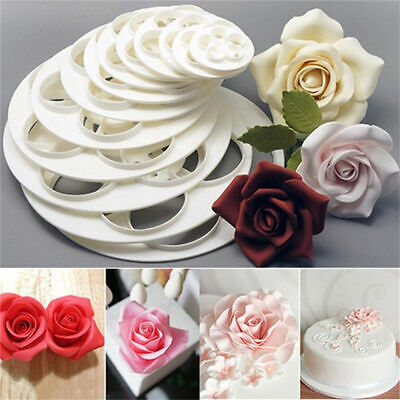 Rose Flower Petal Cutters Set Of 6 Fondant Mould Cake Decorating Craft Icing  • 5.25£