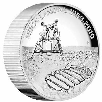 AU490 • Buy 2019 $8 50th Anniversary Of The Moon Landing 5oz Silver High Relief Proof Coin