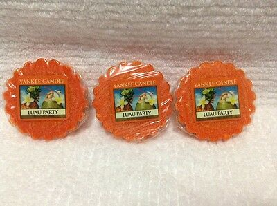 YANKEE CANDLE   LOT OF 3 TARTS WAX MELTS Luau Party • 5.72£