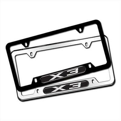 BMW X5 REAR LICENSE PLATE FRAME  CHROME ONLY PRICE IS FOR 1 BMW# 82120418629