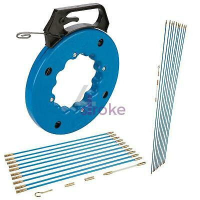 £17.24 • Buy Cable Access Kits Kit 1 M 330 Mm Fish Tape 15m 30m Electricians Push Pull Rod