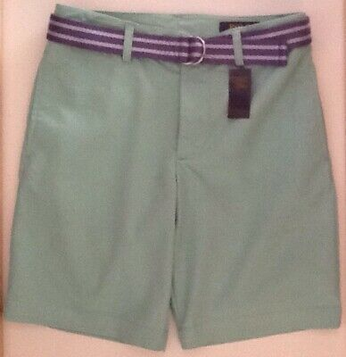 £19.50 • Buy GIRLS/BOYS  SHORTS MINT COLOURED STRETCH RALPH LAUREN AGE 12 Years With Belt BN