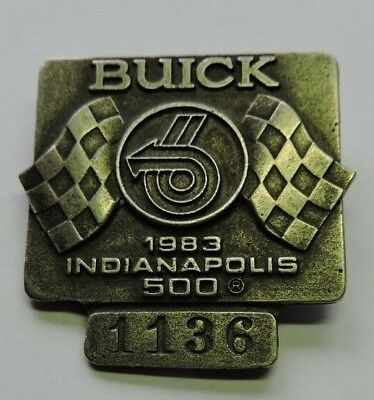 $28 • Buy Indy 500 1983 Buick Pit Badge #885