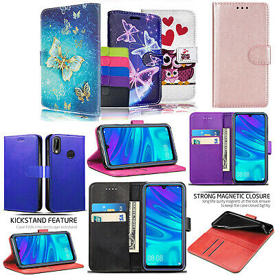 For Huawei Y6 2019 New Stylish PU Leather Wallet Flip Stand Phone Case Cover • 2.99£