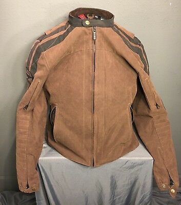 Street And Steel Motorcycle Textile Jacket SZ XL Women's Brown W/Armor $325 • 225$