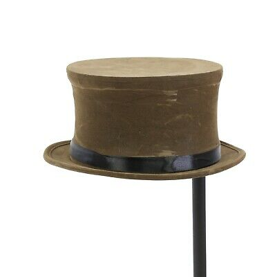 £17.97 • Buy Top Hat Brown Pop Up Foldable Steampunk Mad Hater Concho Slash Hat Suede Like