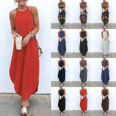 AU12.66 • Buy Women Summer Evening Cocktail Party Formal Dresses Long Maxi Dress Plus Size HOT