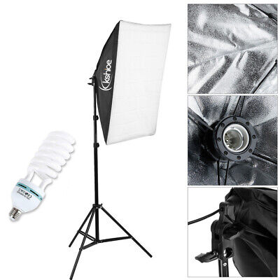Photography Studio 135W Softbox Continuous Lighting Stand Kit Photo Video • 21.99£