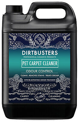 Dirtbusters Pet Carpet Cleaning Solution Shampoo Deodoriser Treatment 5L Vax • 16.99£