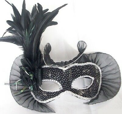 £36.50 • Buy Handmade Mask W Feather Rose Details Masquerade Ball Party Wall Decoration Show