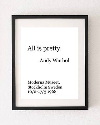 Andy Warhol Quote  Poster Wall Art Print Typography Home Decor A4 Gift • 5.59£