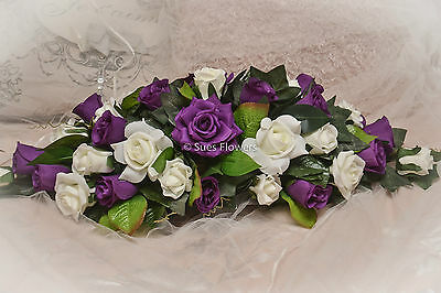 £32.99 • Buy  FLOWERS Top Table In Cadbury Purple & Ivory  Church Venue Ect Other Colours