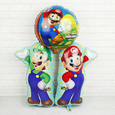 AU2.50 • Buy Super Mario HELIUM Balloon Party Supplies Decoration. Lolly Loot Bag Cake Flags