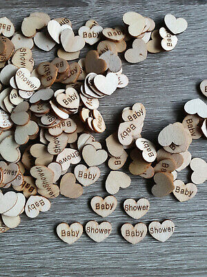 £3.19 • Buy 100X Wooden Baby Shower Heart Table Decor Vintage Rustic Wedding, Paper Confetti