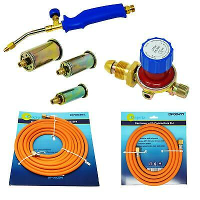 Propane Butane Gas Torch Burner Blow Plumbers Roofers Roofing Brazing Set • 12.99£
