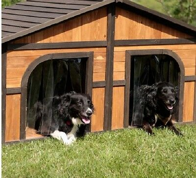 $498.48 • Buy Double Dog House For Outside Extra Large Dogs Wood Pet Shelter Cage Yard Kennel