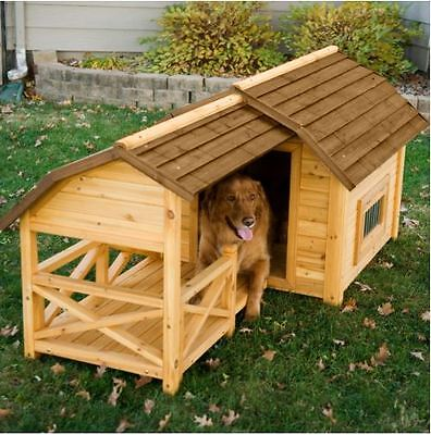 $348.28 • Buy Dog House For Large Dogs Kennel Wooden Barn XL Pet Puppy Raised Floor Shelter