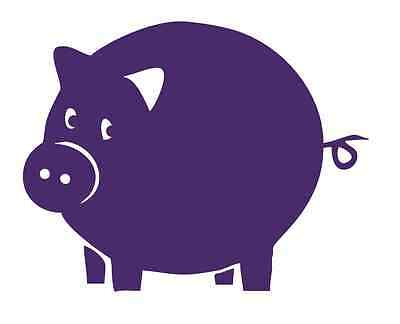 $4.95 • Buy Pig With Curly Tail #578 - Sticker / Decal / Chalkboard / Stencil- Made To Order