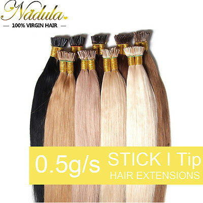 18'' 20'' 22'' 50g 100s Keratin Stick I Tip Glue Remy Real Human Hair Extensions • 29.29$