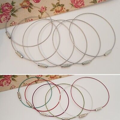 Choose Colour & Quantity, Memory Wire Bracelets, 7cm, Silver Or Mixed, Jewellery • 3£