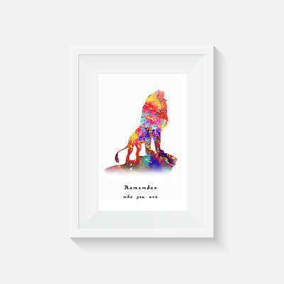 Lion King, Print, Poster, Disney, Quote, Wall Art, Picture, Remember Who You Are • 2.92£