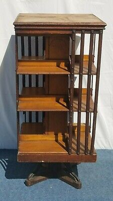 $379 • Buy 19th Century Danner Revolving Book Case, Mission Style Arts & Crafts 1877