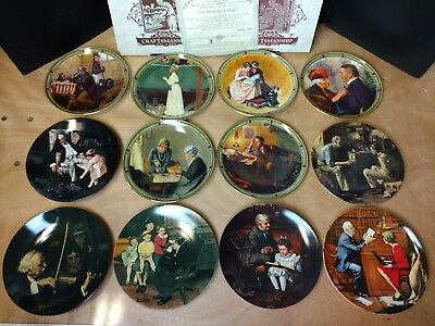 $ CDN50.63 • Buy Edwin M. Knowles 1854 Norman Rockwell Collectors Plate Lot. 12 Plates. (Lot #2)