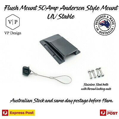 AU25.97 • Buy Anderson Plug Flush Mount Panel Kit External SB50 50 Amp + Dust Cover UV STABLE