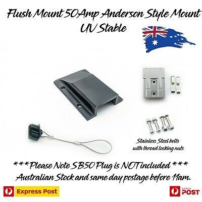 AU32.87 • Buy Anderson Plug Flush Mount Panel Kit External SB50 50 Amp + Dust Cover + Plug